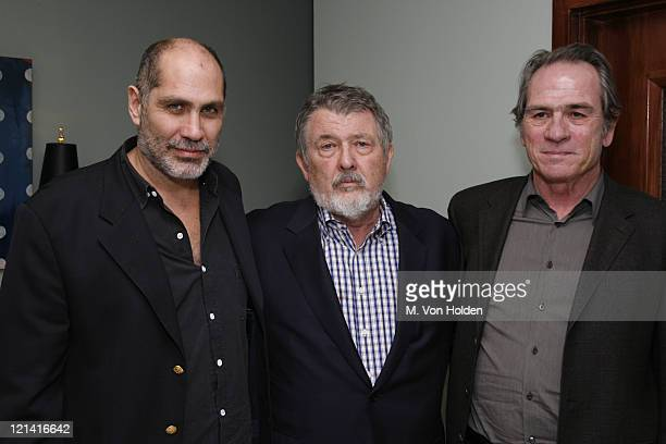 """Guillermo Arriaga, Tommy Lee Jones, Walter Hill during The 9th Annual SCAD Savannah Film Festival- """"The Three Burials of Melquiades Estrada""""..."""