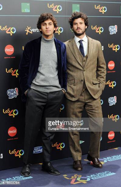 Guillermo Barcenas and Anton Carreno of Taburete attend '40 Principales Awards' 2017 on November 10 2017 in Madrid Spain
