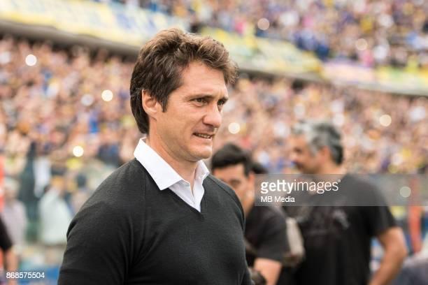 OCTOBER 29 Guillermo Barros Schelotto Boca Juniors manager during the Superliga Argentina match between Boca Juniors and Belgrano at Estadio Alberto...