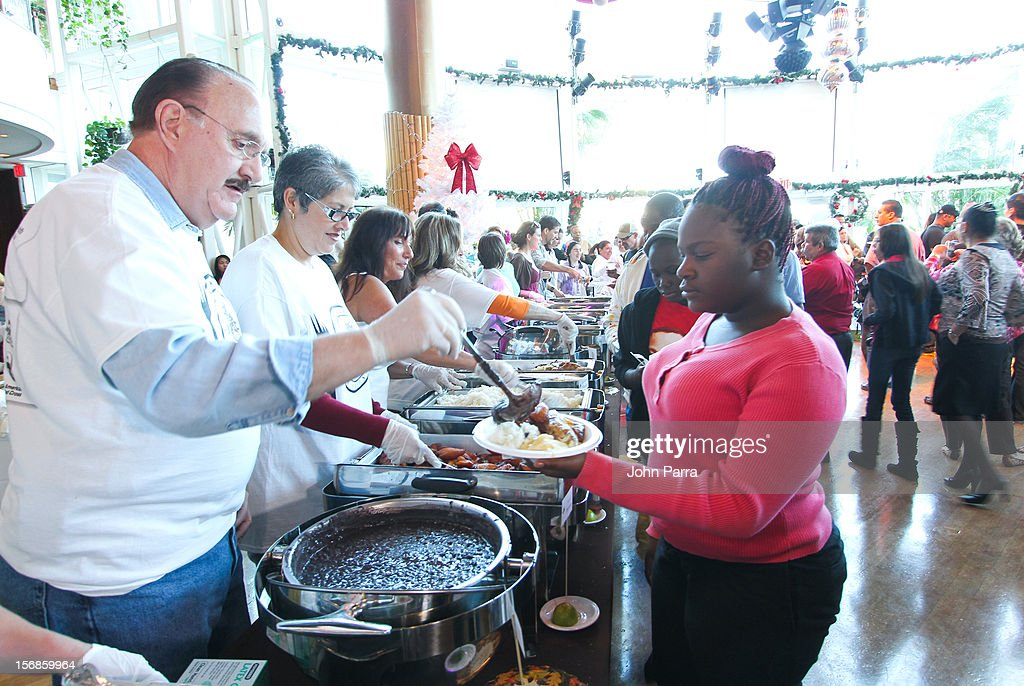 Guillermo Benitez participate in 5th Annual Thanksgiving Feed A Friend at Bongos on November 22, 2012 in Miami, Florida.