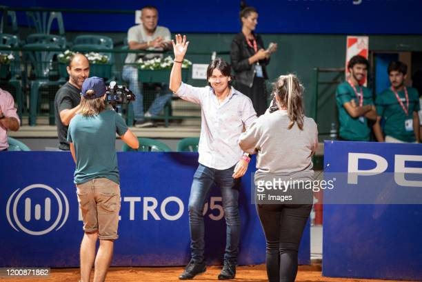 Guillermo Coria of Argentina smiles during day 3 of ATP Buenos Aires Argentina Open at Buenos Aires Lawn Tennis Club on February 12, 2020 in Buenos...