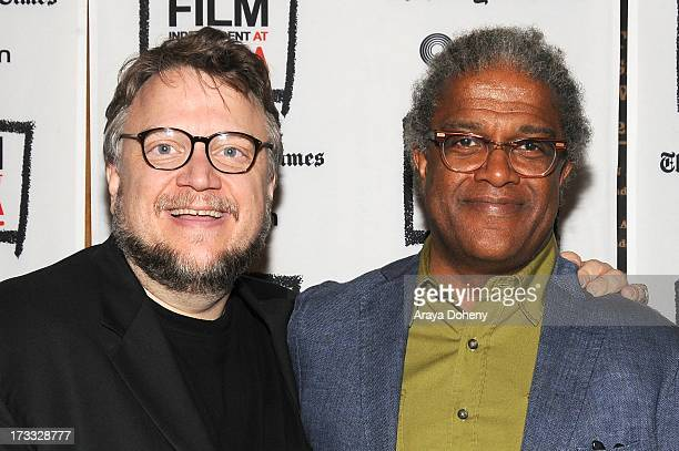 Guillermo del Toro and Elvis Mitchell attend the Film Independent At LACMA Presents Special Screening Of Pacific Rim at Bing Theatre At LACMA on July...