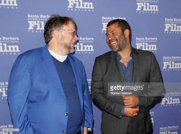 Guillermo del Toro and Jordan Peele attend the 33rd annual Santa Barbara International Film Festival outstanding directors of the year presentation...