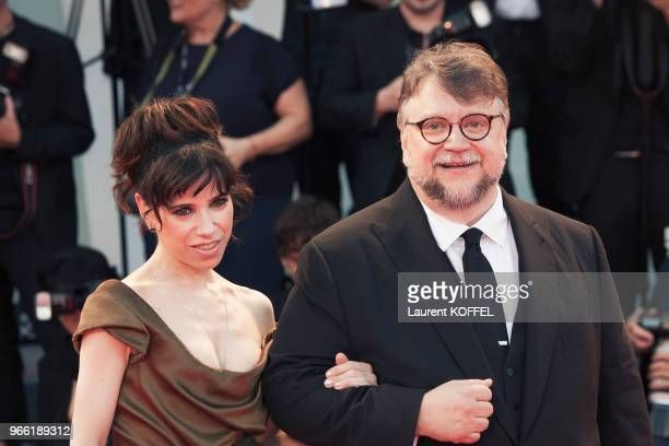 Guillermo del Toro and Sally Hawkins walk the red carpet ahead of the 'The Shape Of Water' screening during the 74th Venice Film Festival at Sala...