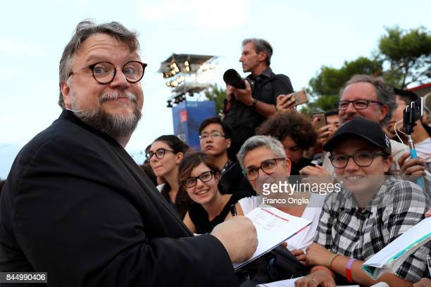 Guillermo del Toro arrives at the Award Ceremony during the 74th Venice Film Festival at Sala Grande on September 9 2017 in Venice Italy