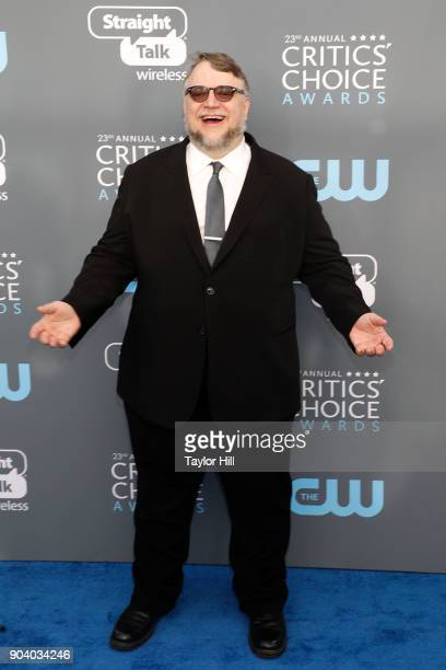 Guillermo del Toro attends the 23rd Annual Critics' Choice Awards at Barker Hangar on January 11 2018 in Santa Monica California