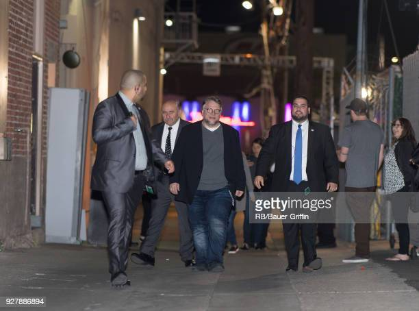Guillermo del Toro is seen at 'Jimmy Kimmel Live' on March 05, 2018 in Los Angeles, California.