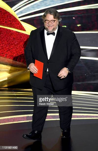 Guillermo del Toro speaks onstage during the 91st Annual Academy Awards at Dolby Theatre on February 24 2019 in Hollywood California
