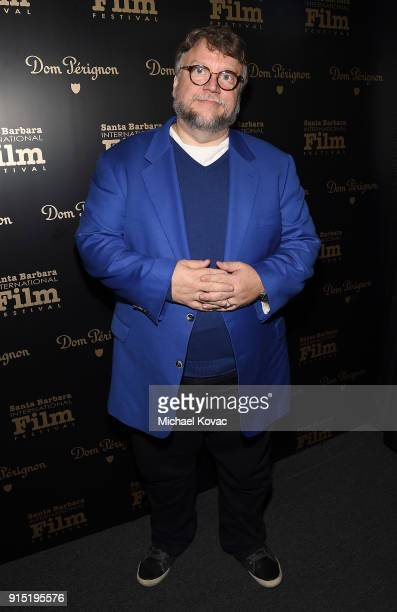 Guillermo del Toro visits the Dom Perignon Lounge before receiving the Outstanding Directors Award at The Santa Barbara International Film Festival...