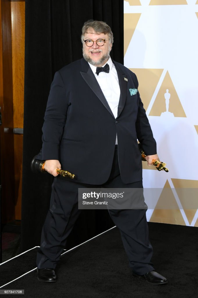 Guillermo del Toro winner of Best Director and Best Picture for 'Shape of Water' poses in the press room during the 90th Annual Academy Awards at Hollywood & Highland Center on March 4, 2018 in Hollywood, California.