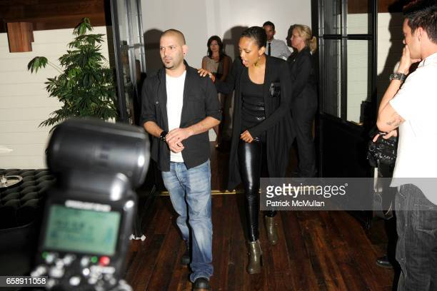 Guillermo Diaz and Jaime Lee Kirchner attend THE CINEMA SOCIETY HUGO BOSS host the after party for INGLOURIOUS BASTERDS at The Standard Hotel on...