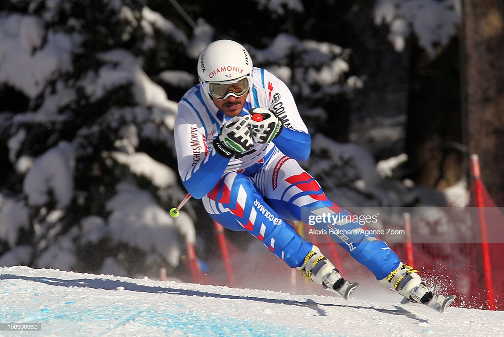 Guillermo Fayed of France competes during the Audi FIS Alpine Ski World Cup Men's Downhill on November 24, 2012 in Lake Louise, Alberta, Canada.