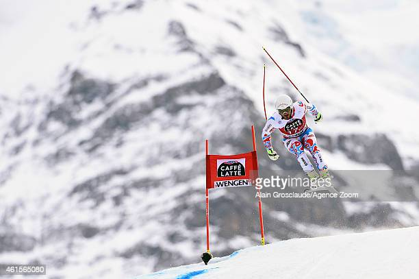 Guillermo Fayed of France competes during the Audi FIS Alpine Ski World Cup Men's Downhill Training on January 15 2015 in Wengen Switzerland