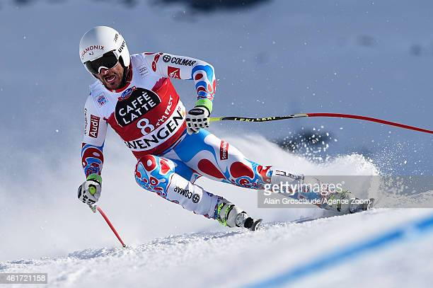 Guillermo Fayed of France competes during the Audi FIS Alpine Ski World Cup Men's Downhill on January 18 2015 in Wengen Switzerland