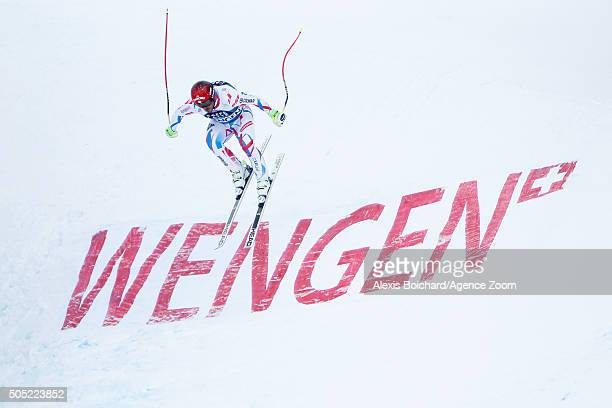 Guillermo Fayed of France competes during the Audi FIS Alpine Ski World Cup Men's Downhill on January 16 2016 in Wengen Switzerland