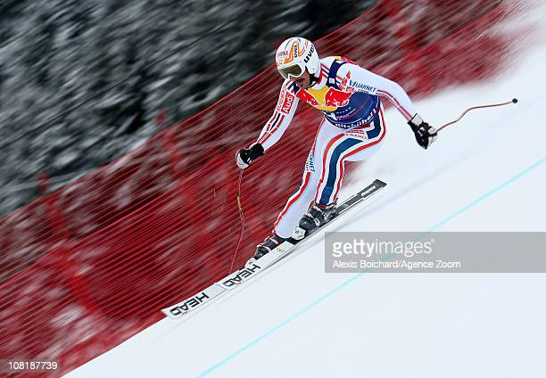 Guillermo Fayed of France during the Audi FIS Alpine Ski World Cup Men's Downhill Training on January 20 2011 in Kitzbuehel Austria