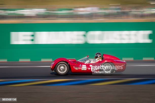 Guillermo Fierro with a Maserati T61 Birdcage 1960 competes during the Grid 3 race 1 at Le Mans Classic 2018 on July 7 2018 in Le Mans France
