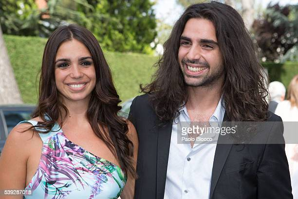 Guillermo Furiase and Elena Furiase attend the wedding ceremony of Sara Verdasco and Juan Carmona on June 10 2016 in Madrid Spain