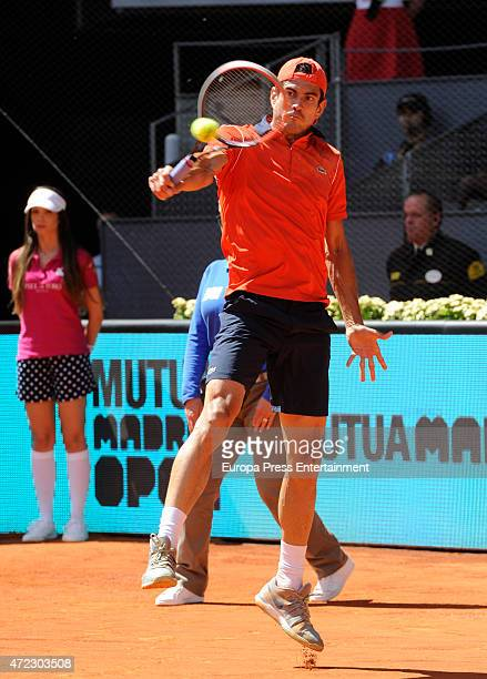 Guillermo Garcia-Lopez attends the Mutua Madrid Open tennis tournament on May 5, 2015 in Madrid, Spain.