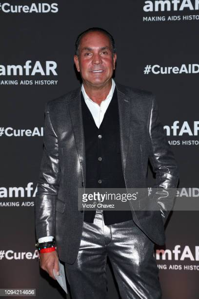 Guillermo Gonzalez poses during the amfAR gala dinner at the house of collector and museum patron Eugenio López on February 5 2019 in Mexico City...