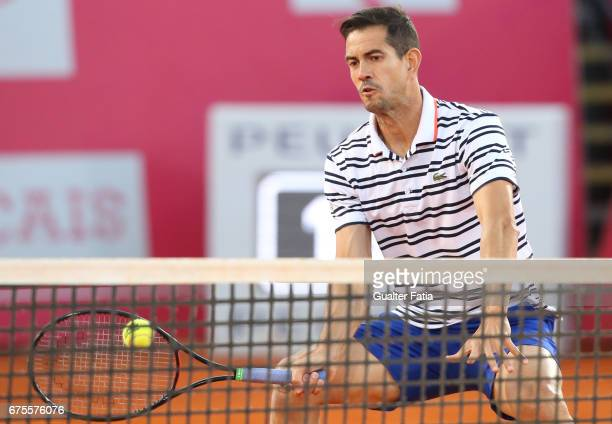 Guillermo GraciaLopez in action during the match between Kyle Edmund from Great Britain/Joao Sousa from Portugal and Nicolas Almagro from...