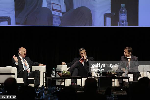 Guillermo Kopp worldwide director of financial services industry at Microsoft Corp from left Oliver Cunningham partner at KPMG Brazil LLP and Jose...