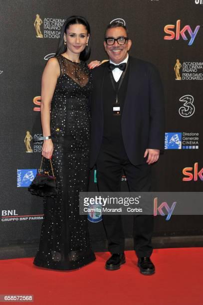 Guillermo Mariotto and Barbara Tabita walks the red carpet of the 61 David Di Donatello on March 27 2017 in Rome Italy