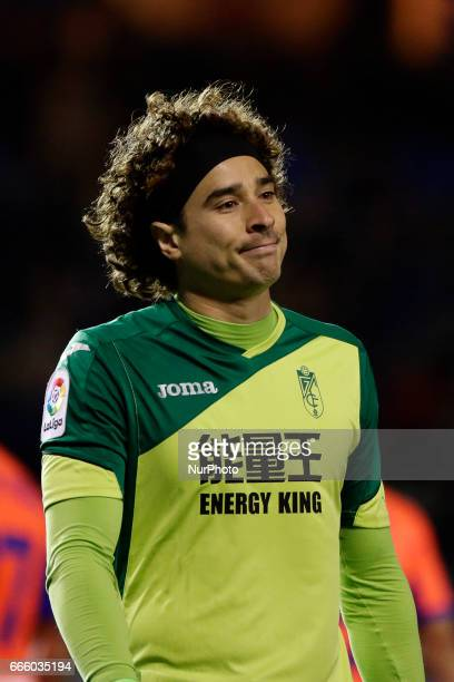 Guillermo Ochoa goalkeeper of Granada CF during the La Liga Santander match between Deportivo de La Corua and Granada CF at Riazor Stadium on April 5...