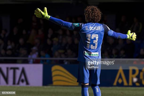 Guillermo Ochoa of Granada CF during spanish La Liga Santander soccer match between Villarreal CF and Granada CF at La Ceramica Stadium in Villarreal...