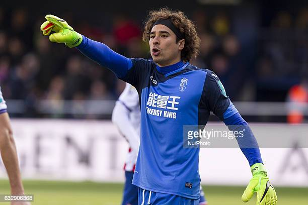 13 Guillermo Ochoa of Granada CF during spanish La Liga Santander soccer match between Villarreal CF and Granada CF at La Ceramica Stadium in...