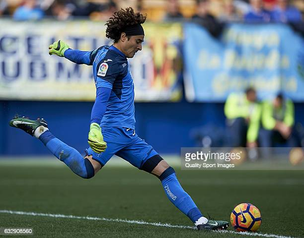 Guillermo Ochoa of Granada in action during the La Liga match between Villarreal CF and Granada CF at Estadio de la Ceramica on January 28 2017 in...