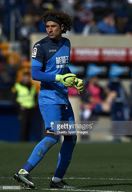 Guillermo Ochoa of Granada looks on during the La Liga match between Villarreal CF and Granada CF at Estadio de la Ceramica on January 28 2017 in...