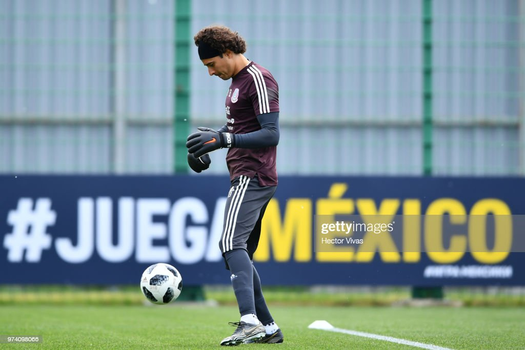 Guillermo Ochoa of Mexico during a training session at team training base Novogorsk-Dynamo on June 14, 2018 in Moscow, Russia.