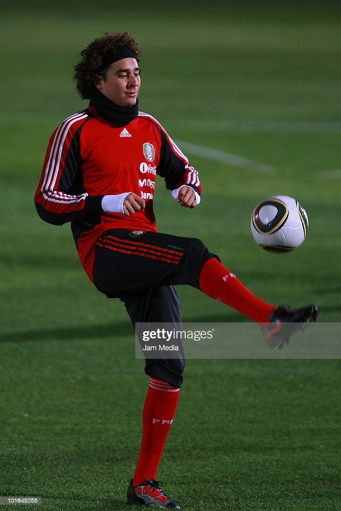 Guillermo Ochoa of Mexico during a training session at Waterstone College as part of their preparation for FIFA 2010 World Cup on June 5, 2010 in Johannesburg, South Africa.
