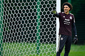 moscow russia guillermo ochoa mexico gestures