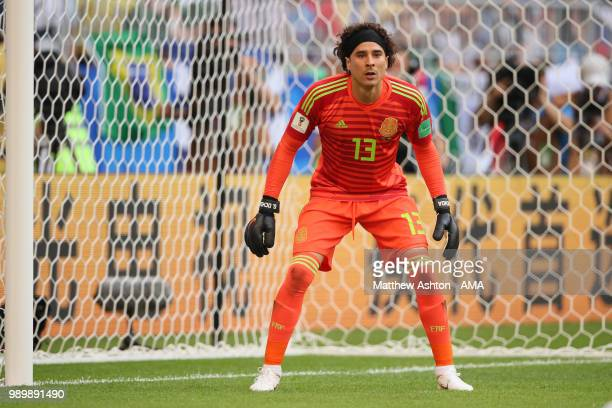 Guillermo Ochoa of Mexico in action during the 2018 FIFA World Cup Russia Round of 16 match between Brazil and Mexico at Samara Arena on July 2 2018...