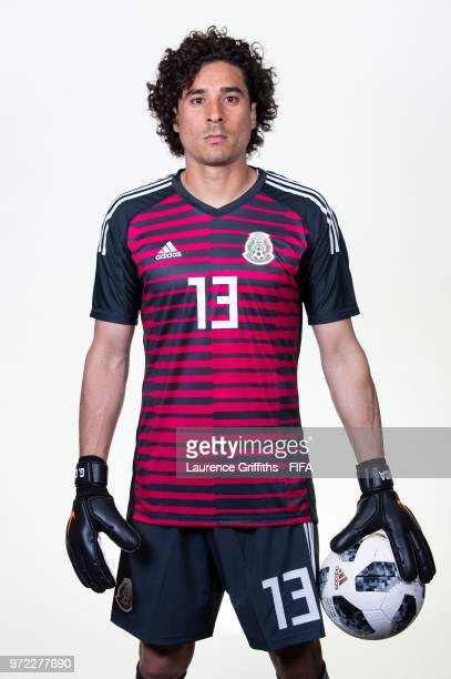 66b2d759719 Guillermo Ochoa of Mexico poses for a portrait during the official FIFA  World Cup 2018 portrait