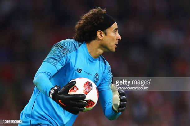 Guillermo Ochoa of Standard de Liege in action during the UEFA Champions League third round qualifying match between Ajax and Royal Standard de Liege...