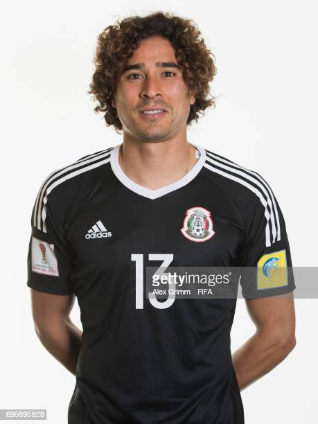 Guillermo Ochoa poses for a picture during the Mexico team portrait session on June 14 2017 in Kazan Russia