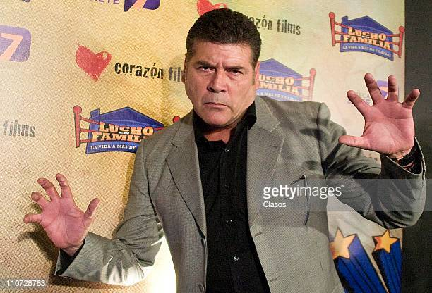 Guillermo Quintanilla attends to the presentation of the tv serie Lucho en Familia at the Camino Real Hotel on March 23 2011 in Tlalnepantla Mexico