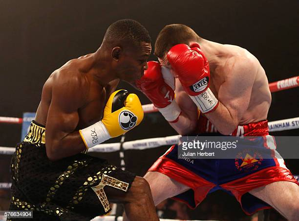 Guillermo Rigondeaux of Cuba in action against Jazza Dickens of Great Britain during their WBA SuperBantamweight Championship bout at Cardiff Ice...