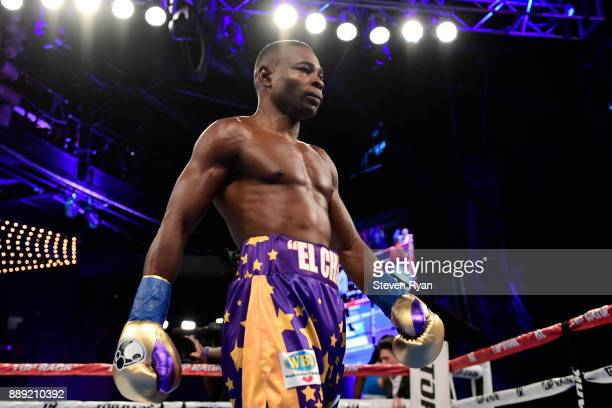 Guillermo Rigondeaux walks back to his corner during his Junior Lightweight bout against Vasiliy Lomachenko at Madison Square Garden on December 9...