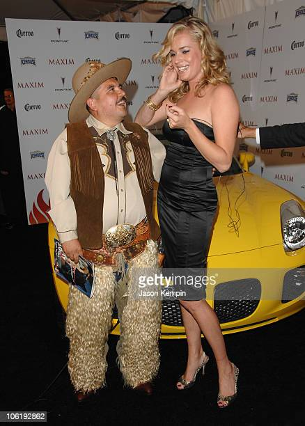Guillermo Rodriguez and Rebecca Romijn during Maxim's 8th Annual Hot 100 Party Arrivals at The Gansevoort Hotel in New York City New York United...