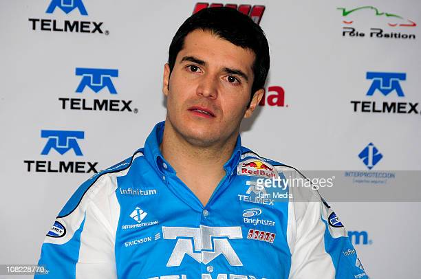 Guillermo Rojas during a press conference to present Telmex Team at Autodromo Hermanos Rodriguez on January 21 2010 in Mexico City Mexico