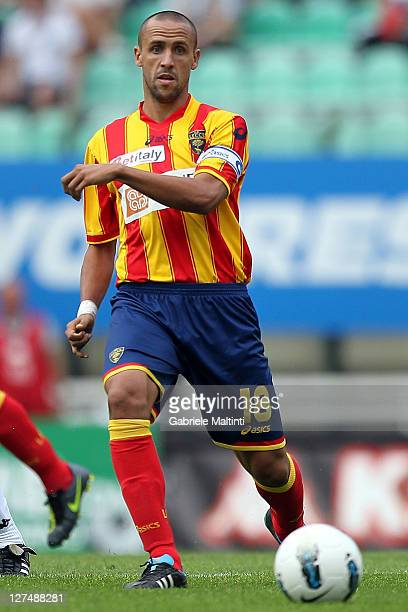 Guillermo Suarez Giacomazzi of US Lecce Fc in action during the Serie A match between AC Siena and US Lecce at Artemio Franchi Mps Arena Stadium on...