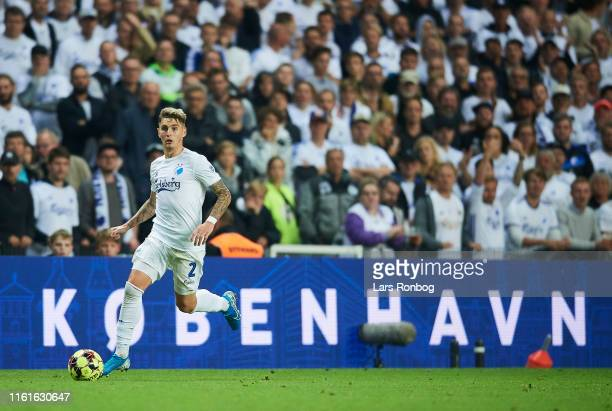 Guillermo Varela of FC Copenhagen controls the ball during the UEFA Champions League 3rd Round Qual. Match between FC Copenhagen and Crvena Zvezda at...