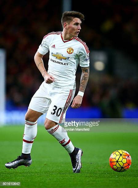 Guillermo Varela of Manchester United in action during the Barclays Premier League match between AFC Bournemouth and Manchester United at the...