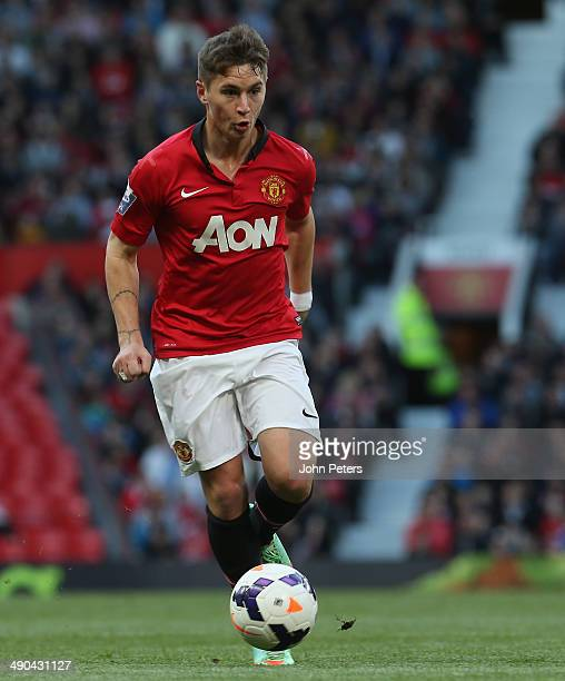 Guillermo Varela of Manchester United U21s in action during the Barclays U21 Premier League final match between Manchester United and Chelsea at Old...