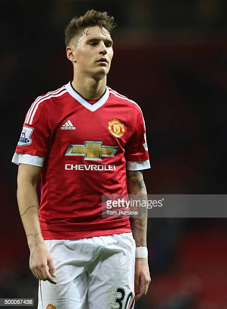 Guillermo Varela of Manchester United walks off after the Barclays Premier League match between Manchester United and West Ham United at Old Trafford...