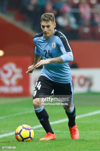 Guillermo Varela of Uruguay during international friendly match between Poland and Uruguay at National Stadium on November 10 2017 in Warsaw Poland